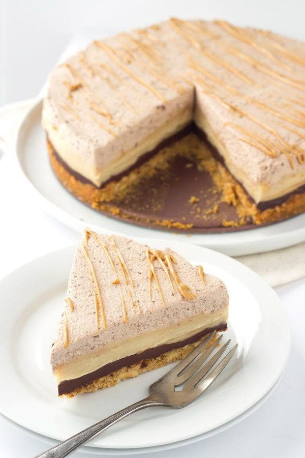 Chocolate Peanut Butter Pie recipe - from RecipeGirl.com