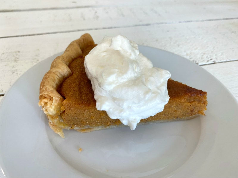 slice of Classic Pumpkin Pie