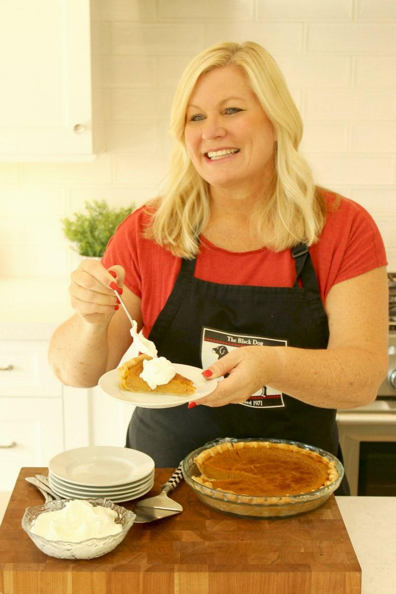 RecipeGirl serving Pumpkin Pie