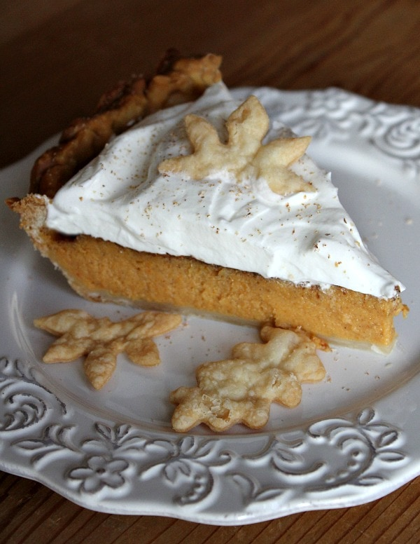 slice of Classic Pumpkin Pie