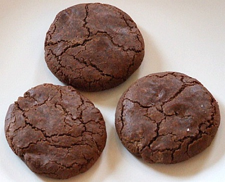 Low Fat Double Chocolate Chews recipe from RecipeGirl.com