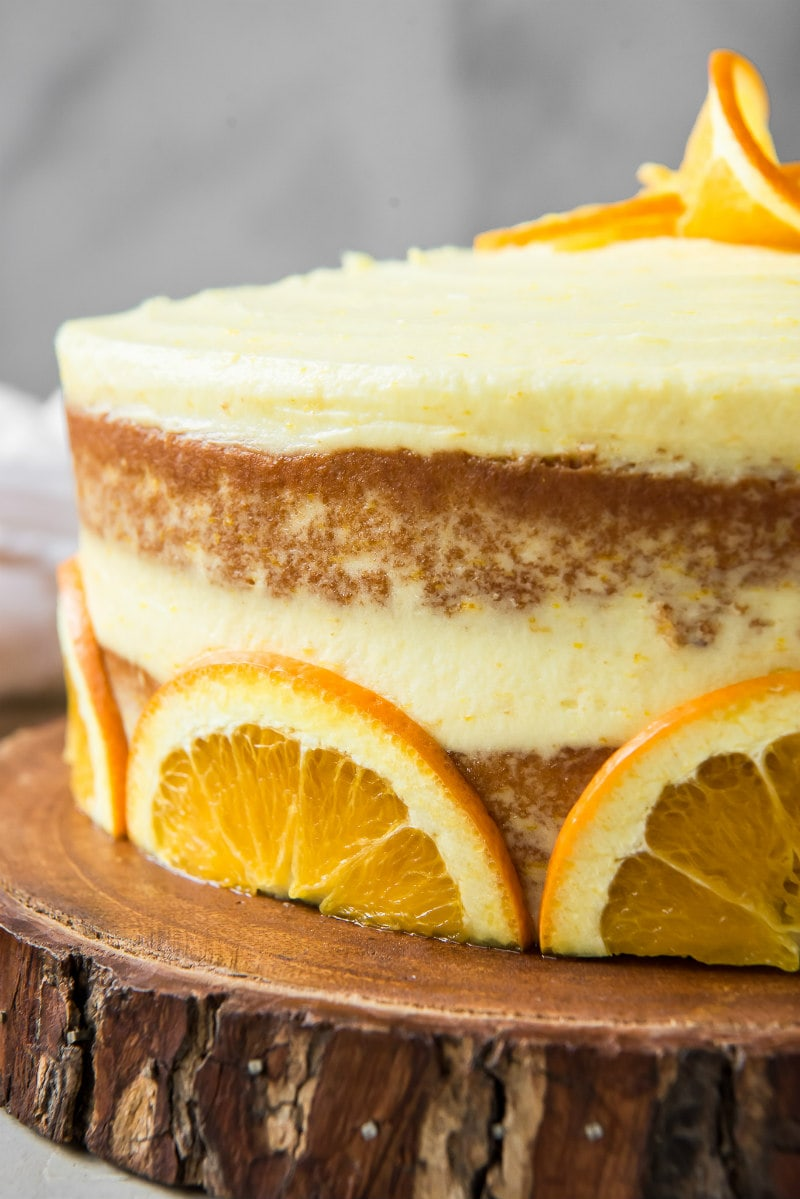 fresh orange layer cake