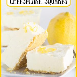 frozen lemon cheesecake squares pinterest image