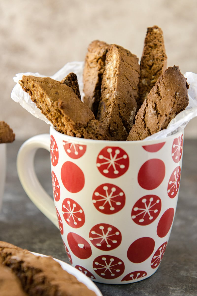 Cup of Gingerbread Biscotti