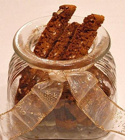 jar of Gingerbread Biscotti