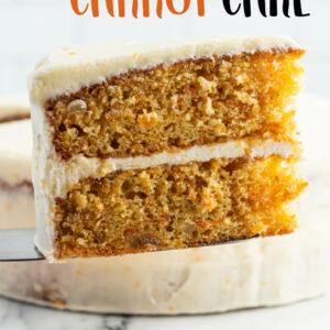 pinterest image for gingered carrot cake