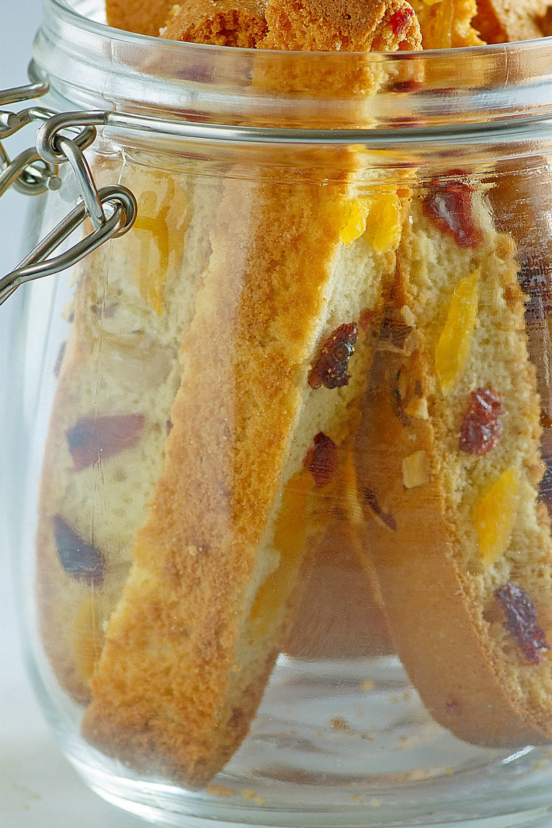 Holiday Biscotti in a jar