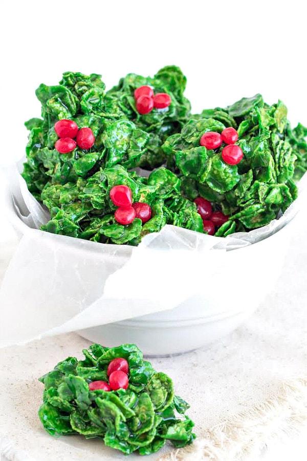 Holly Cookies Recipe - RecipeGirl.com