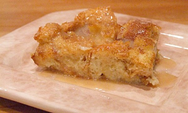 Irish Bread Pudding with Irish Whiskey Sauce