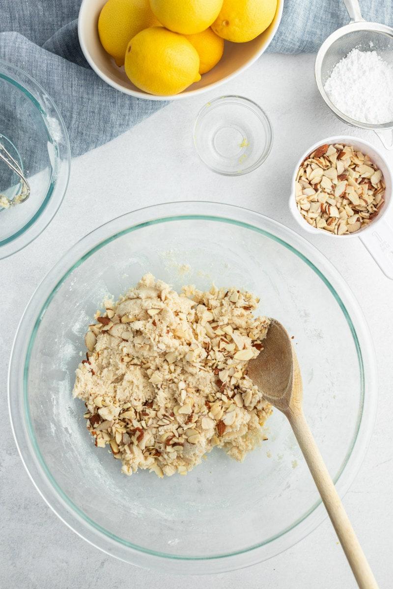 lemon almond cookie brittle dough