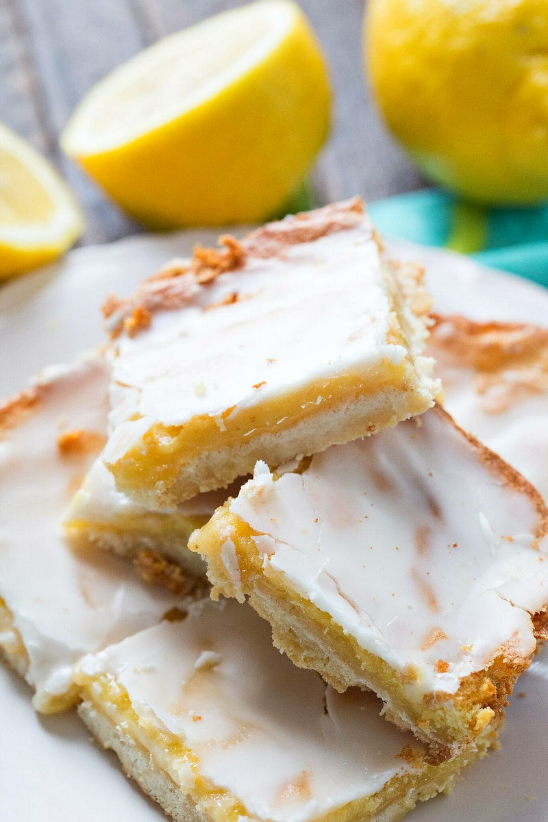 Stack of Best Lemon Bars