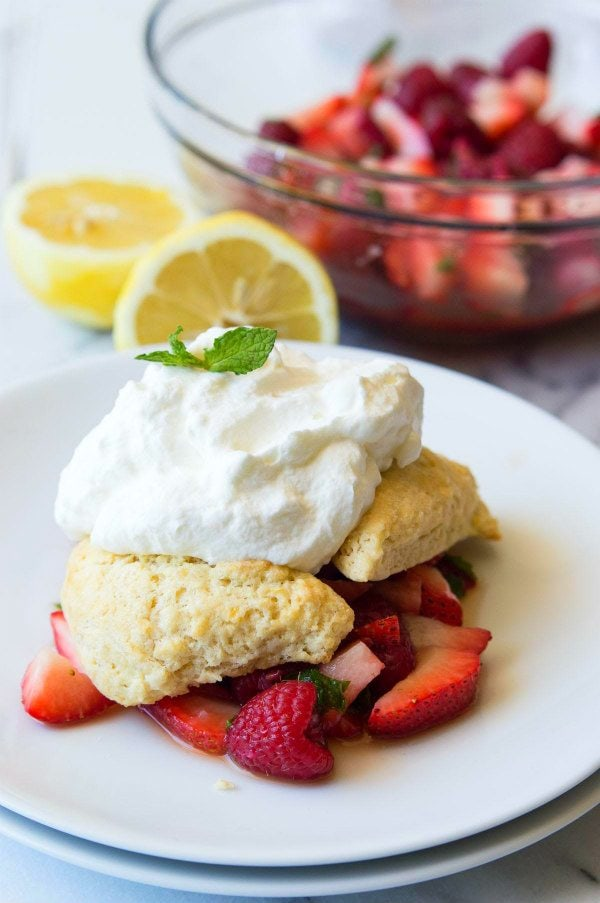 Lemon Berry Shortcakes Recipe - RecipeGirl.com