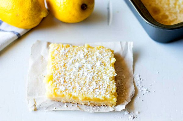 Lemon Crumb Bars Recipe - RecipeGirl.com
