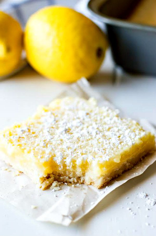 Lemon Crumb Bars Recipe from RecipeGirl.com