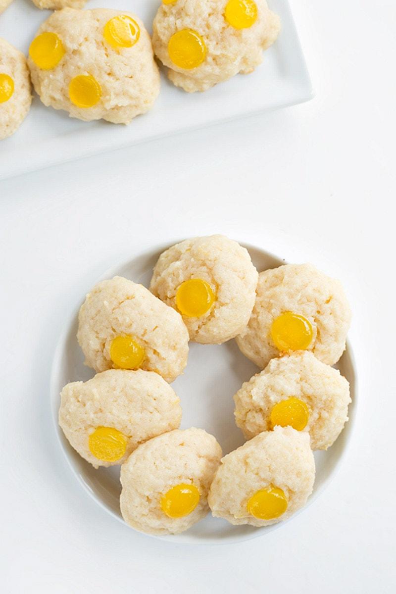 Lemon Gumdrop Cookies on a platter