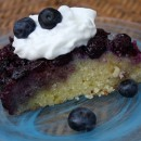 Lemon and Blueberry Upside Down Cake