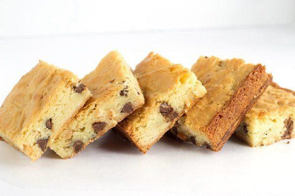 Macadamia Chip Brownies - a blonde brownie recipe from RecipeGirl.com