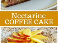 pinterest collage image for nectarine coffee cake