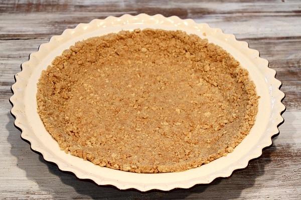 Graham Cracker Crust in a pie plate
