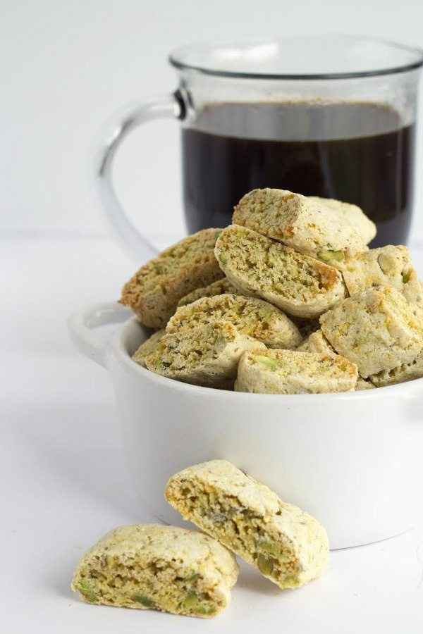 Orange Pistachio Biscotti recipe by RecipeGirl.com