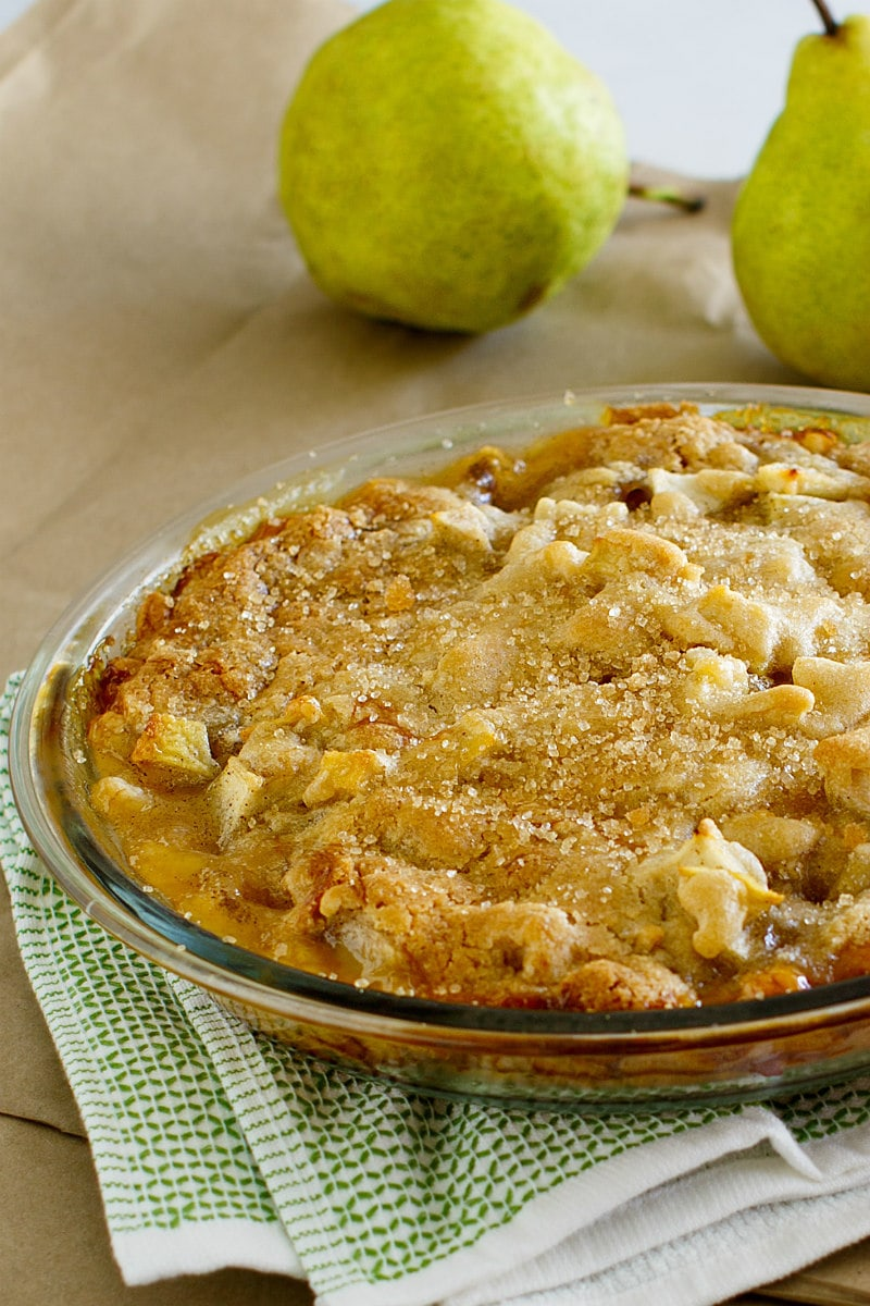 Paper Bag Pear Pie