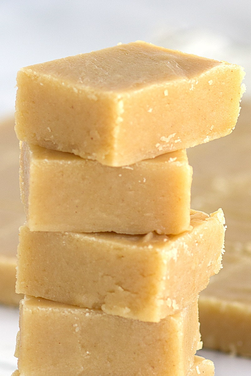 stacked peanut butter fudge