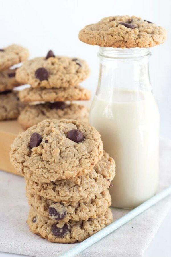Peanut Butter Oatmeal Chocolate Chunk Cookies Recipe