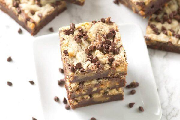Peanut Butter Swirl Brownies recipe - by RecipeGirl.com