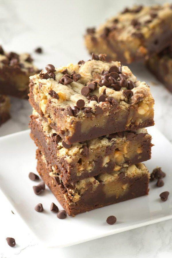 Peanut Butter Swirl Brownies recipe - from RecipeGirl.com