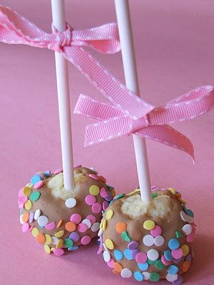 cheesecake pops for a baby shower