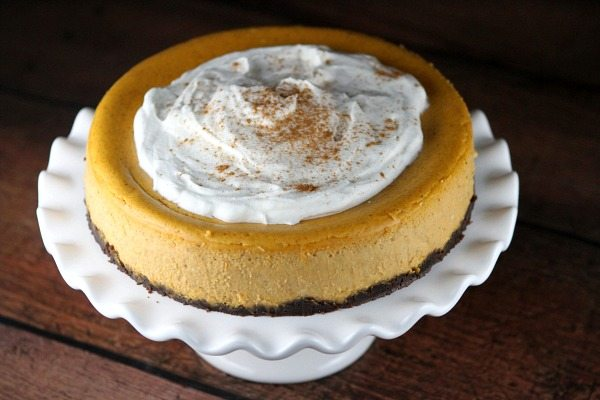 Pumpkin Cheesecake Recipe - from RecipeGirl.com