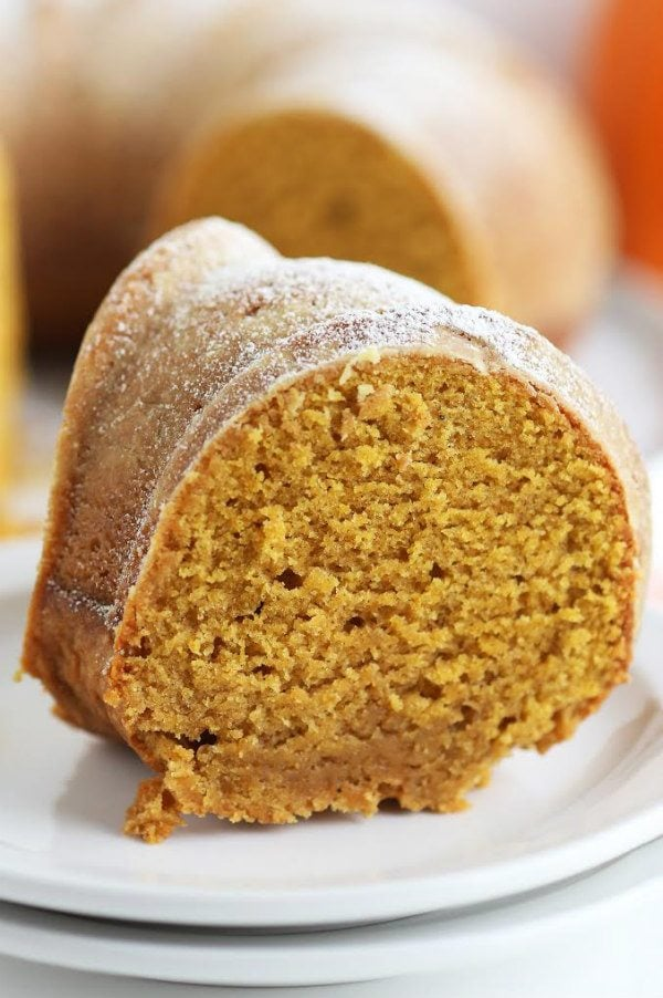 Pumpkin and Ginger Pound Cake recipe - from RecipeGirl.com