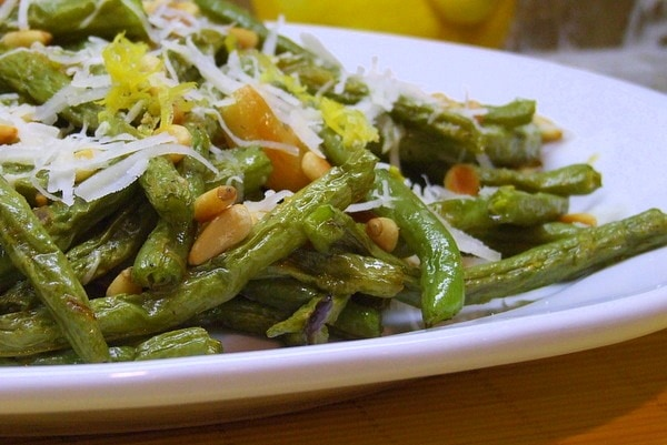 ... found here: Roasted Green Beans with Lemon, Pine Nuts and Parmigiano