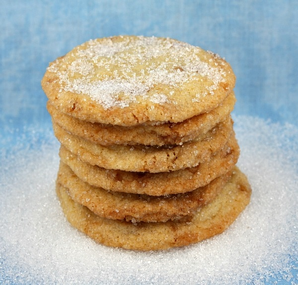 stack of Sparkling Butter Toffee Cookies