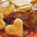 Vanilla Apples with Sweetheart Croutes