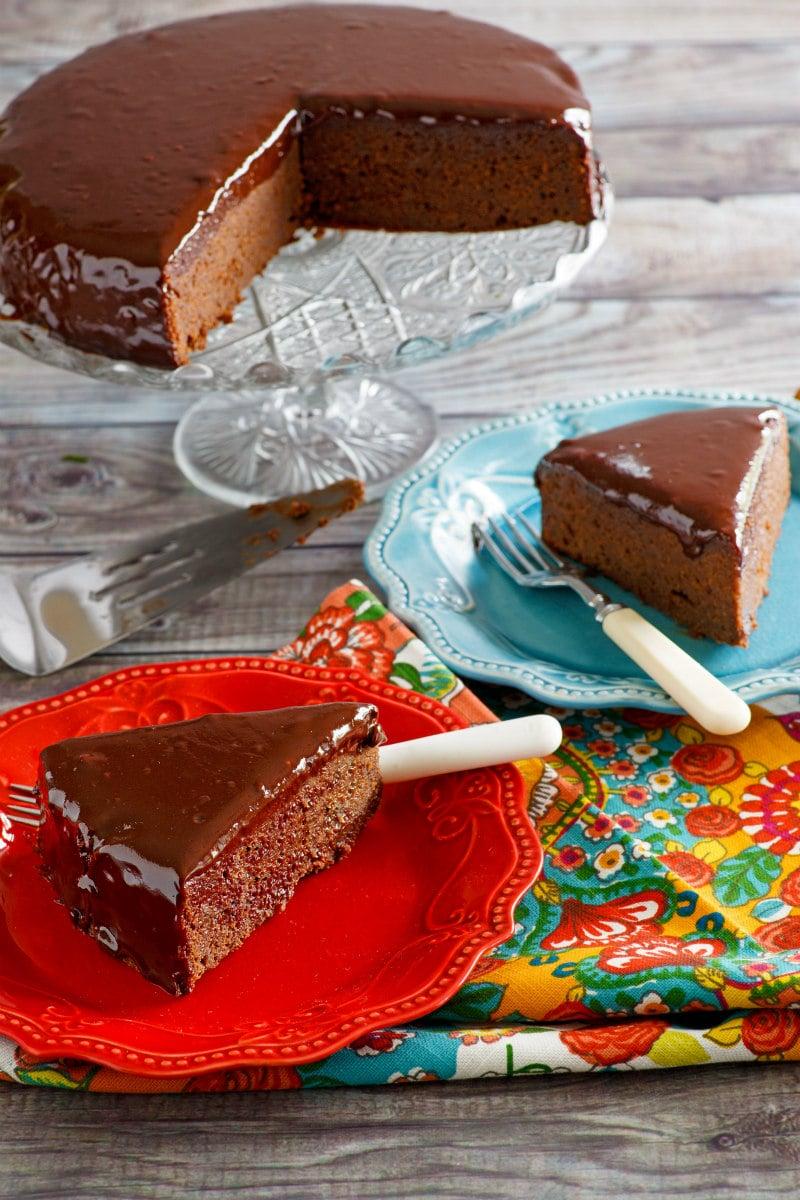Slices of Chocolate Ganache Cake