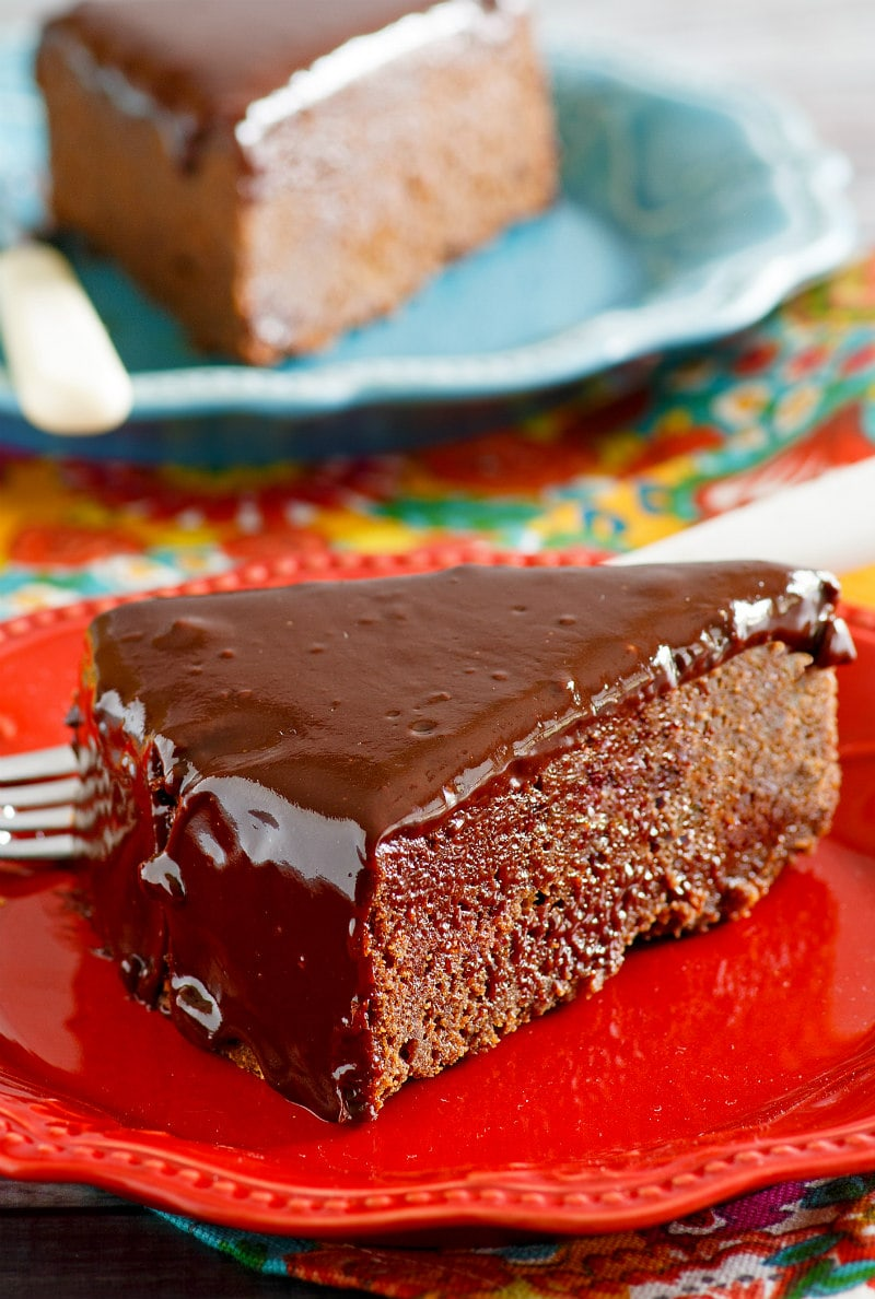 Slice of Chocolate Ganache Cake
