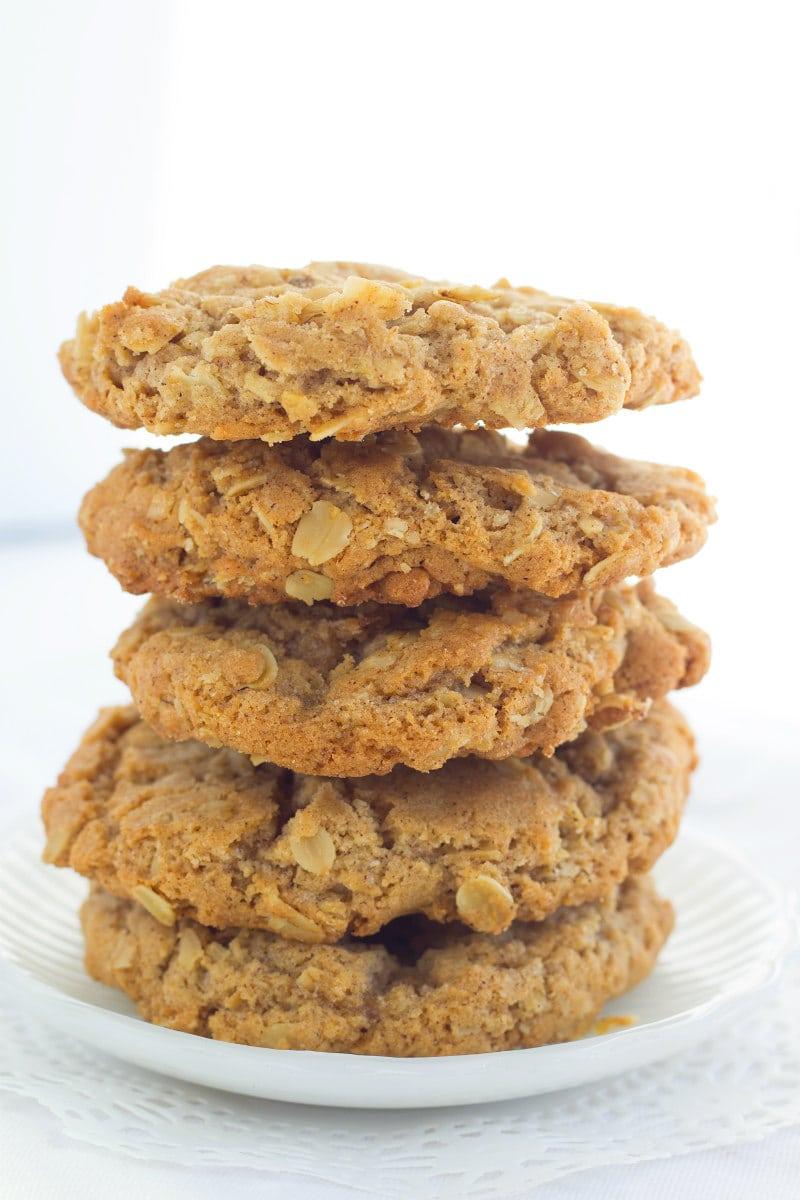 Stack of Grandma's Oatmeal Cookies