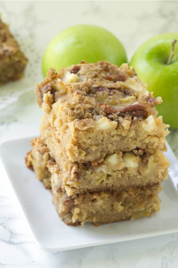 Apple Harvest Blondies recipe - from RecipeGirl.com