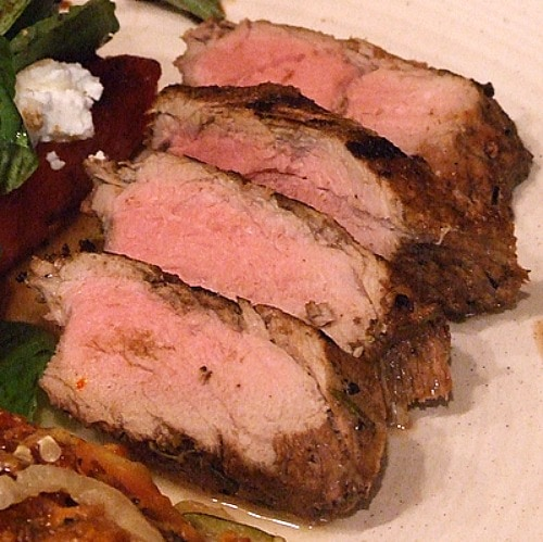Balsamic- Rosemary Grilled Pork Tenderloin
