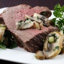 Blue Cheese and Mushroom Stuffed Beef Tenderloin