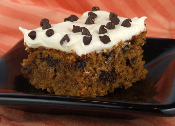 ... feed a small crowd, this is it: Chocolate- Chip Pumpkin Spice Bars