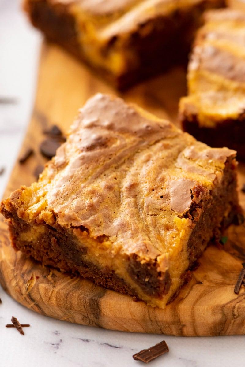 Chocolate Pumpkin Brownie