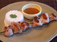 Coconut Curry Pork Satay