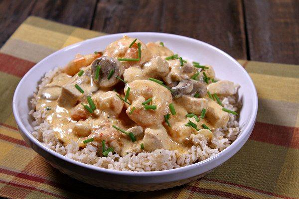 Deluxe Chicken and Shrimp recipe - from RecipeGirl.com