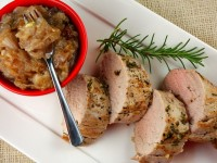 Herb Crusted Pork Tenderloin with Red Onion Jam