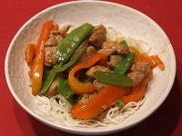 Hoisin Pork and Snow Pea Stir Fry