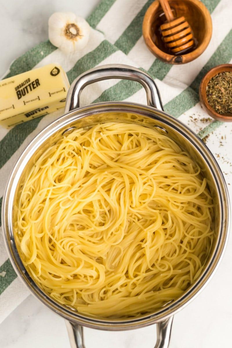 Ingredients for Honey Garlic Angel Hair