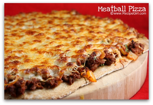 Meatball Pizza