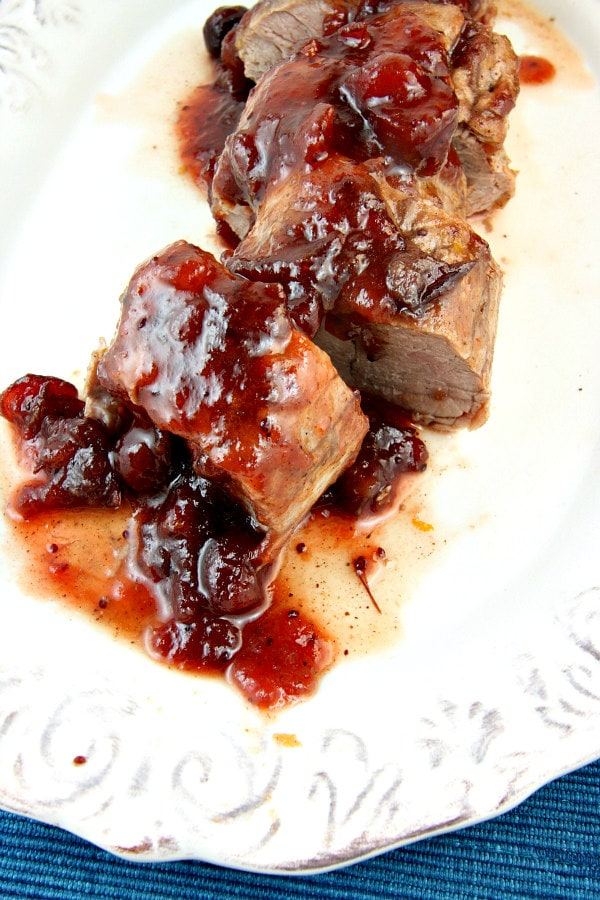 Orange Cranberry Glazed Pork Tenderloin Recipe